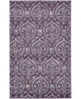 Felipe Fel1 Purple 5' x 8' Area Rug