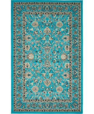 Arnav Arn1 Turquoise 8' x 8' Square Area Rug