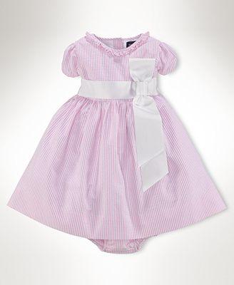 Ralph Lauren Baby Dress Baby Girls Seersucker Dress