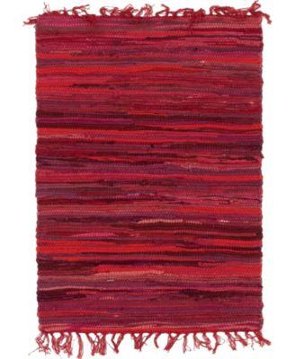 Jari Striped Jar1 Red 9' x 12' Area Rug