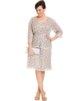 plus length dresses Forties