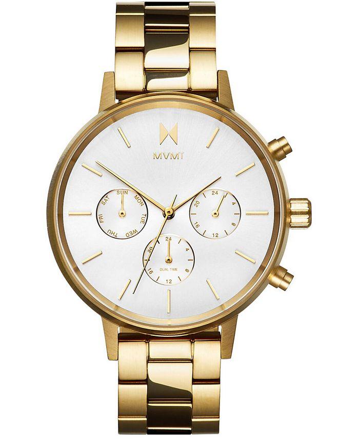 MVMT - Women's Nova Solis Gold-Tone Stainless Steel Bracelet Watch 38mm