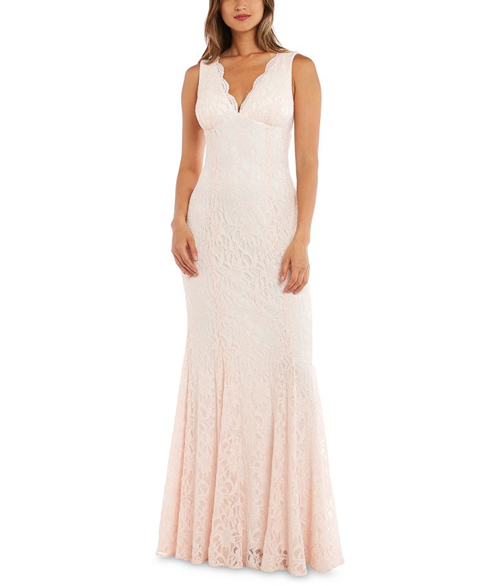 Morgan & Company - Juniors' Allover-Lace Gown