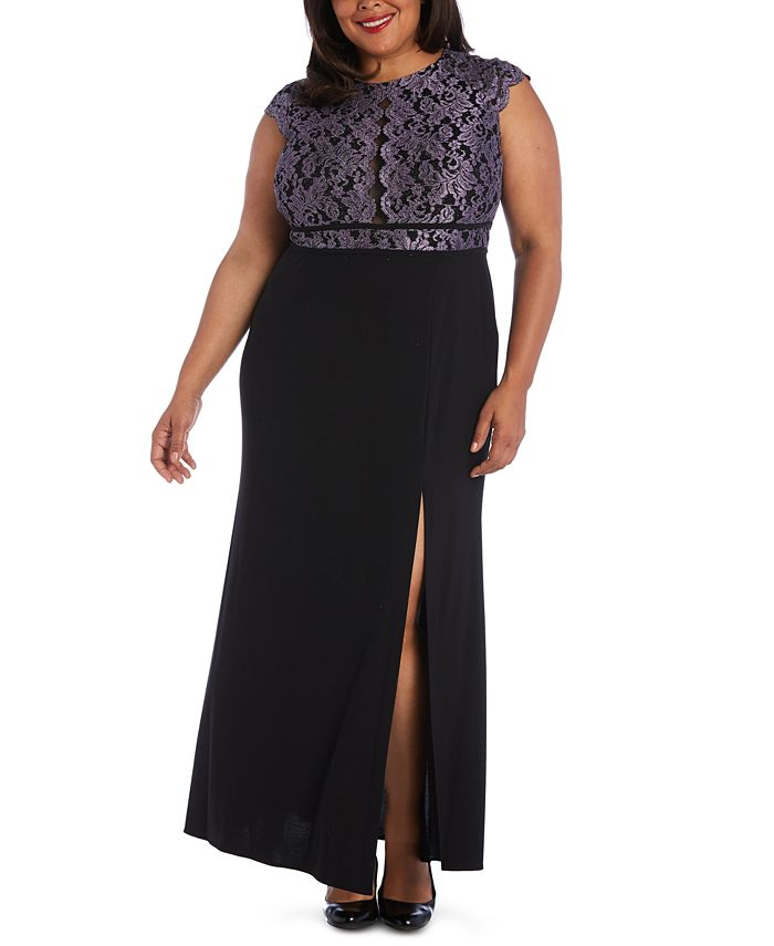 Morgan & Company - Trendy Plus Size Glitter Lace Dress