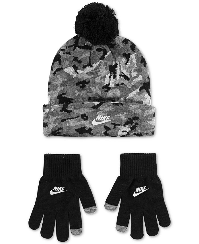 Nike - Big Boys 2-Pc. Futura Camo-Print Beanie & Gloves Set