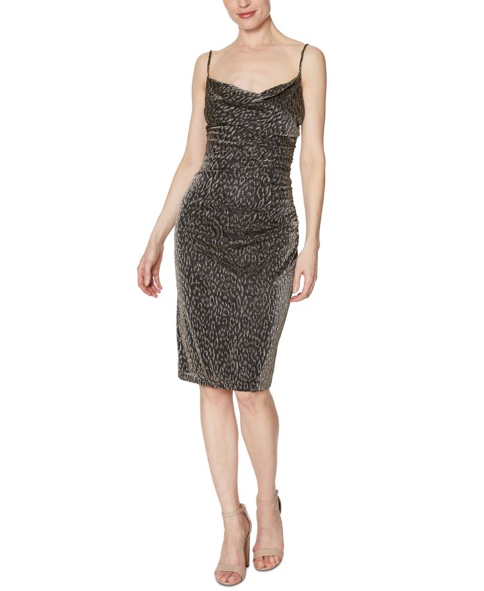 Laundry by Shelli Segal Animal-Print Ruched Dress & Reviews - Dresses - Women - Macy's