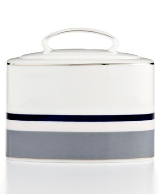 kate spade new york Mercer Drive Platinum Sugar Bowl with Lid