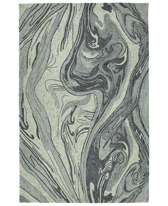 Kaleen Marble MBL02-75 Gray 2' x 3' Area Rug