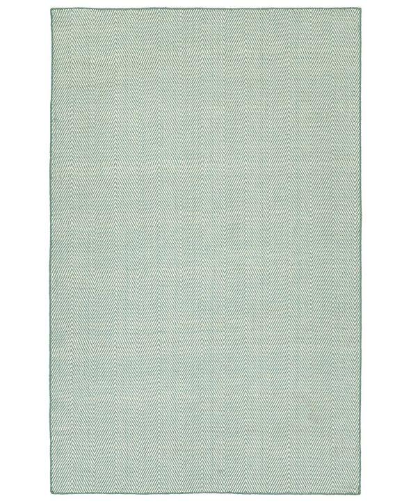 "Kaleen Ziggy ZIG01-79 Light Blue 5' x 7'6"" Area Rug"