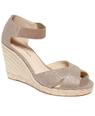Adrienne Vittadini Shoes, Vee Espadrille Platform Wedge Sandals