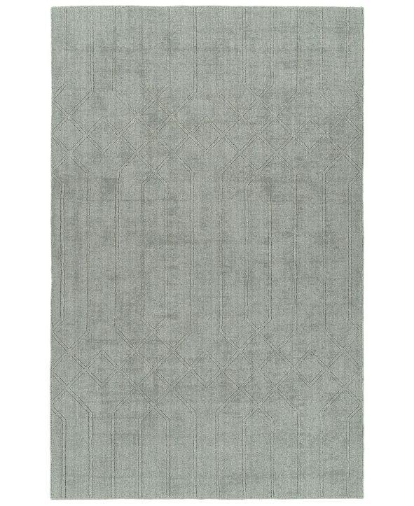 "Kaleen Minkah MKH02-77 Silver 7'6"" x 9' Area Rug"