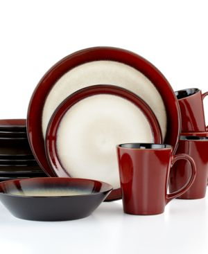 Pfaltzgraff Everyday Dinnerware, Aria Red 16-Piece Set