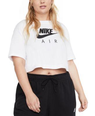 Nike Plus Size Air Short-Sleeve Crop