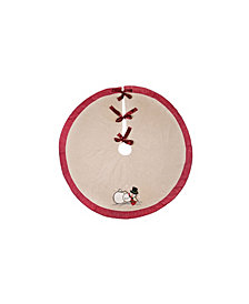 """Manor Luxe Jack Frost Christmas Tree Skirt, 56"""" Round"""