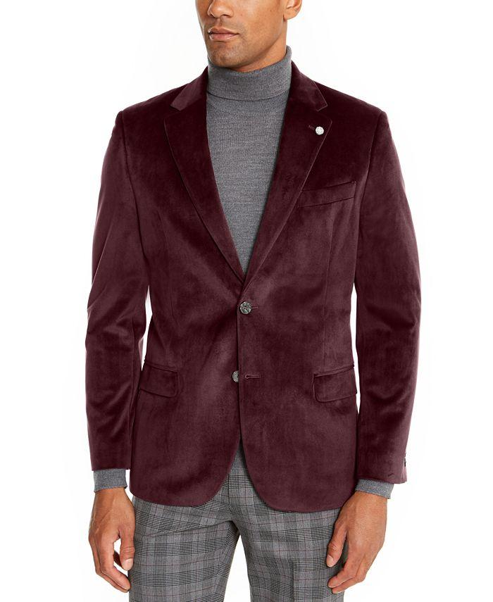 Nautica - Men's Modern-Fit Velvet Sport Coat
