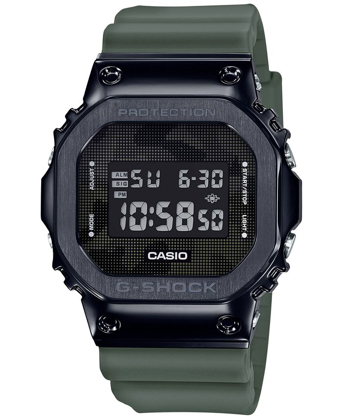G-Shock - Men's Digital Green Resin Strap Watch 43mm