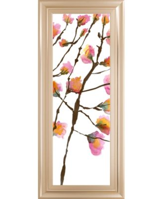 "Inky Blossoms II by Deborah Velasquez Framed Print Wall Art - 18"" x 42"""