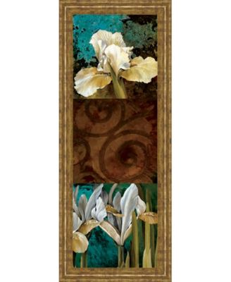 "From My Garden I by Linda Thompson Framed Print Wall Art - 18"" x 42"""