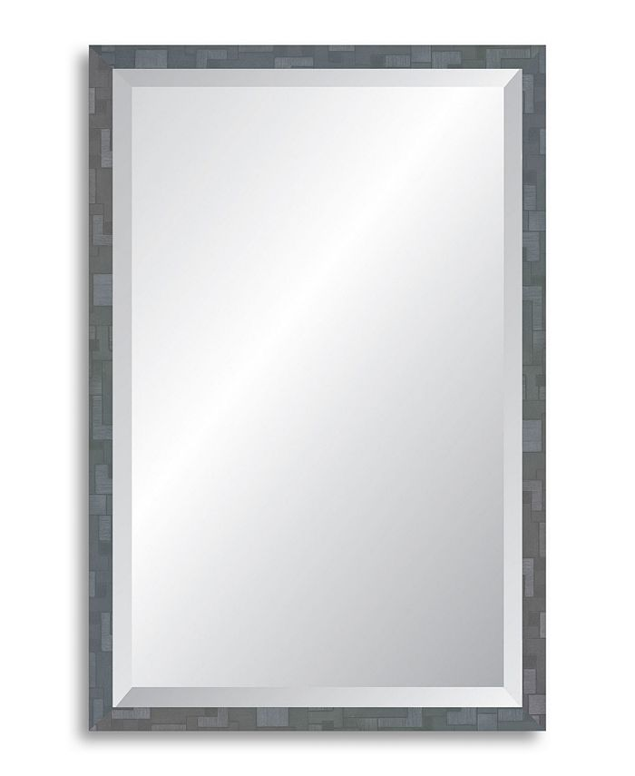 Reveal Frame & Décor - Millennium Geometric Twilight Silver Beveled Wall Mirror