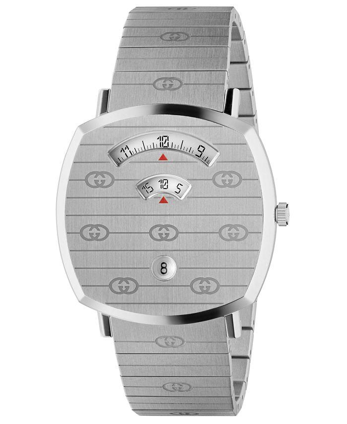 Gucci - Unisex Grip Stainless Steel Bracelet Watch 38mm