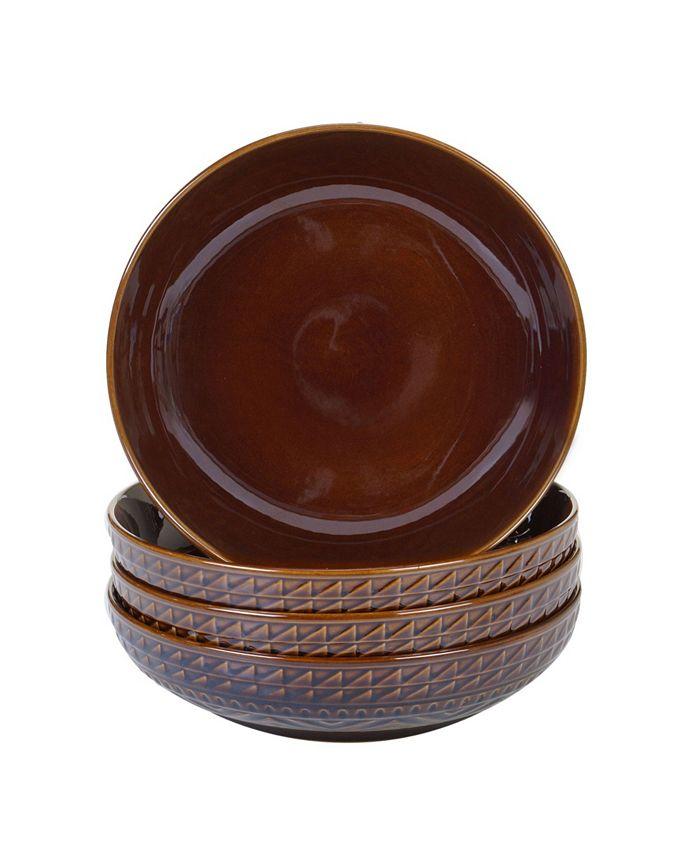 Certified International - Aztec Brown 4-Pc. Soup Bowls