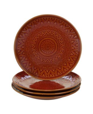 Certified International Aztec Rust 4-Pc. Salad Plates