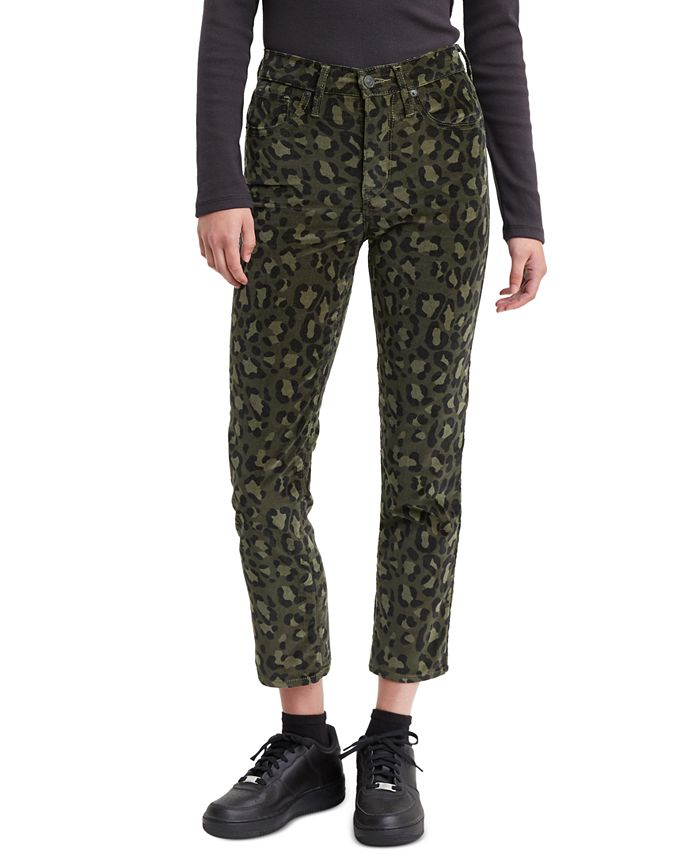 Levi's - 724 Printed Cropped Straight-Leg Jeans