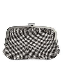 INC Patsy Diamond Mesh Frame Clutch, Created for Macy's