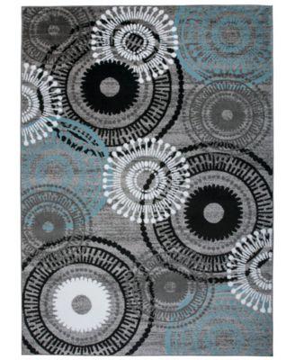 Montane Mon119 Blue/Gray 9' x 12' Area Rug
