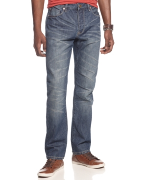 Sean John Jeans Hamilton Cross Seam Slim Straight Leg Jeans