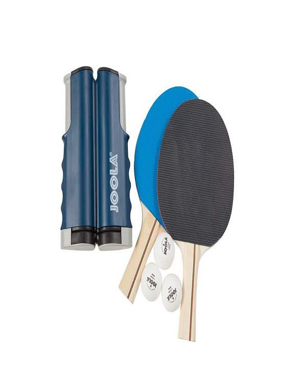 JOOLA Essentials Variant Complete Table Tennis Set Includes Retractable Net, 2 Rackets 3 Balls