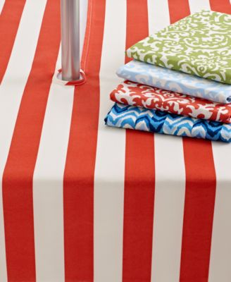 "Waverly Outdoor Table Linens, Luna 52"" x 70"" Umbrella Zip Tablecloth"
