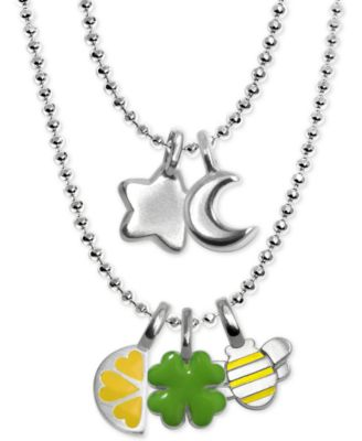 Mini Lemon Slice Charm in Sterling Silver