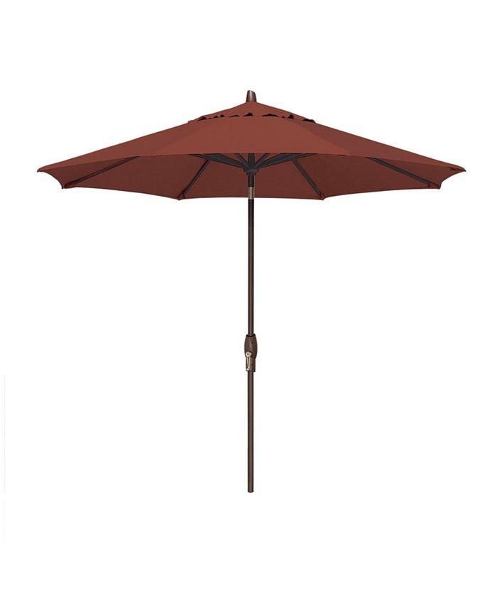 Treasure Garden - Patio Umbrella, Outdoor Bronze 9' Auto Tilt