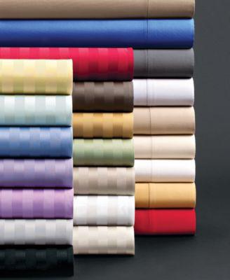 CLOSEOUT! Charter Club Bedding, Damask Stripe 500 Thread Count King Sheet Set