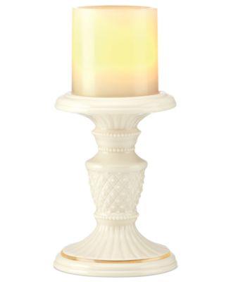 Lenox Candle Holder, Illuminate Beaded Pillar