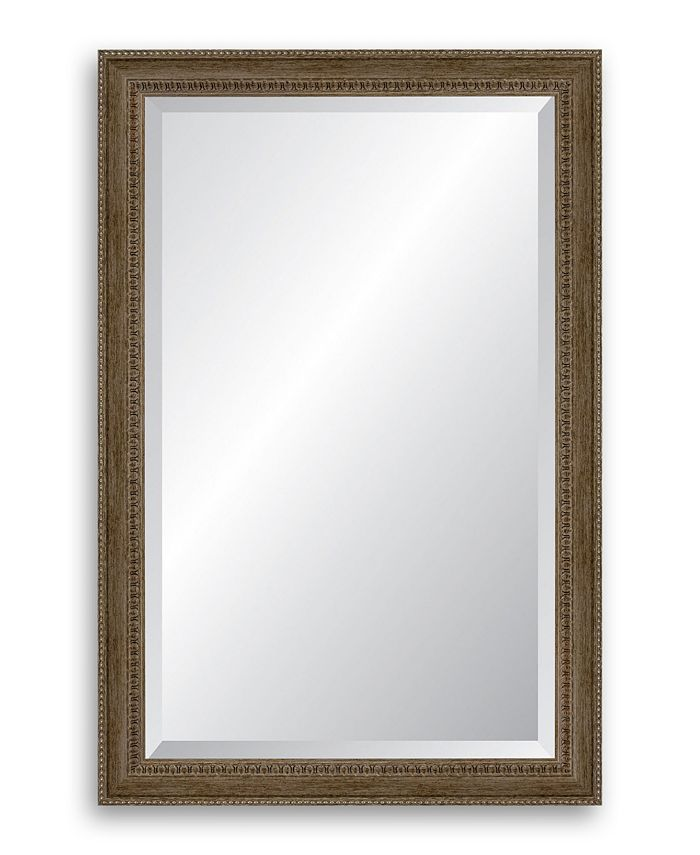 Reveal Frame & Décor - Brushed Antique Silver Beveled Wall Mirror