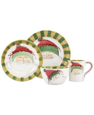 Old St. Nick Green Hat 4-Piece Place Setting