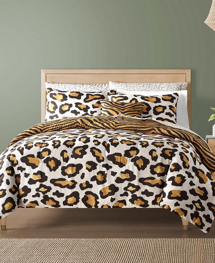 Sunham - Safari Reversible 12-Pc. Comforter Sets