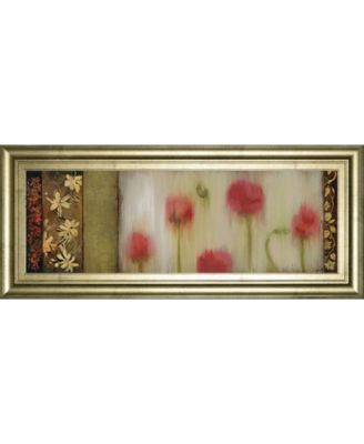 "Rain Flower II by Dysart Framed Print Wall Art, 18"" x 42"""