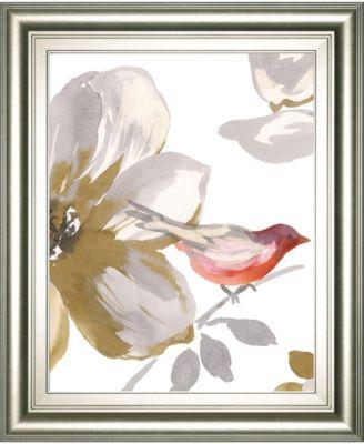 "Bird Chatter I by Sandra Jacobs Framed Print Wall Art, 22"" x 26"""