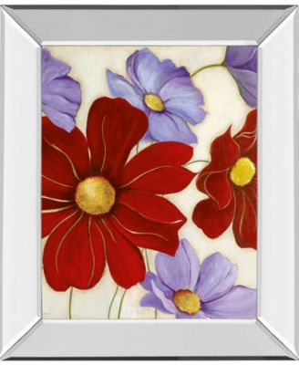 """Lavender and Red I by Tava Studios Mirror Framed Print Wall Art, 22"""" x 26"""""""