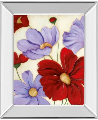 """Lavender and Red II by Tava Studios Mirror Framed Print Wall Art, 22"""" x 26"""""""