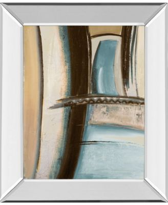 """Time Flies on Blue II by Patricia Pinto Mirror Framed Print Wall Art, 22"""" x 26"""""""