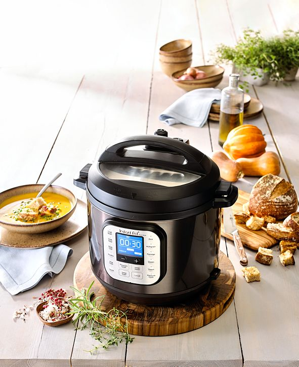 Instant Pot Duo™ Nova™ Black Stainless Steel 6-Qt. 7-in-1 One-Touch Multi-Cooker, Created for Macy's