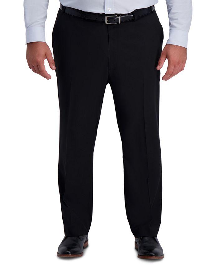 Haggar - Men's Big & Tall Active Series Classic-Fit Performance Stretch Dress Pants