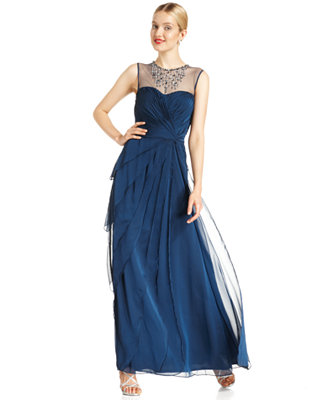 Sale alerts for  Adrianna Papell Petite Sleeveless Beaded Tiered Gown - Covvet