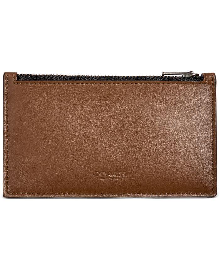 COACH - Men's Zip Leather Card Case