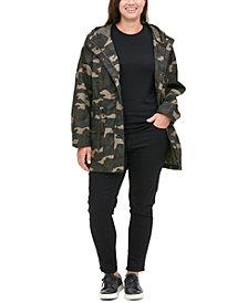 Levi's® Trendy Plus Size Printed Cotton Parka Jacket