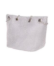 La Regale Crystal Mesh Bucket Handbag